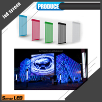 32 inch led lobby tv display electronics Transparent mesh led display