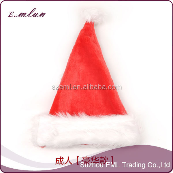 china wholesale non-woven party decoration santa christmas hats EML-12-W5016