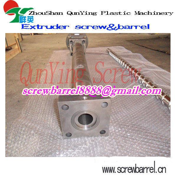 Making Gas Cylinder Double Gas Vented Screw Barrel for Plastic Bag / LDPE Granule