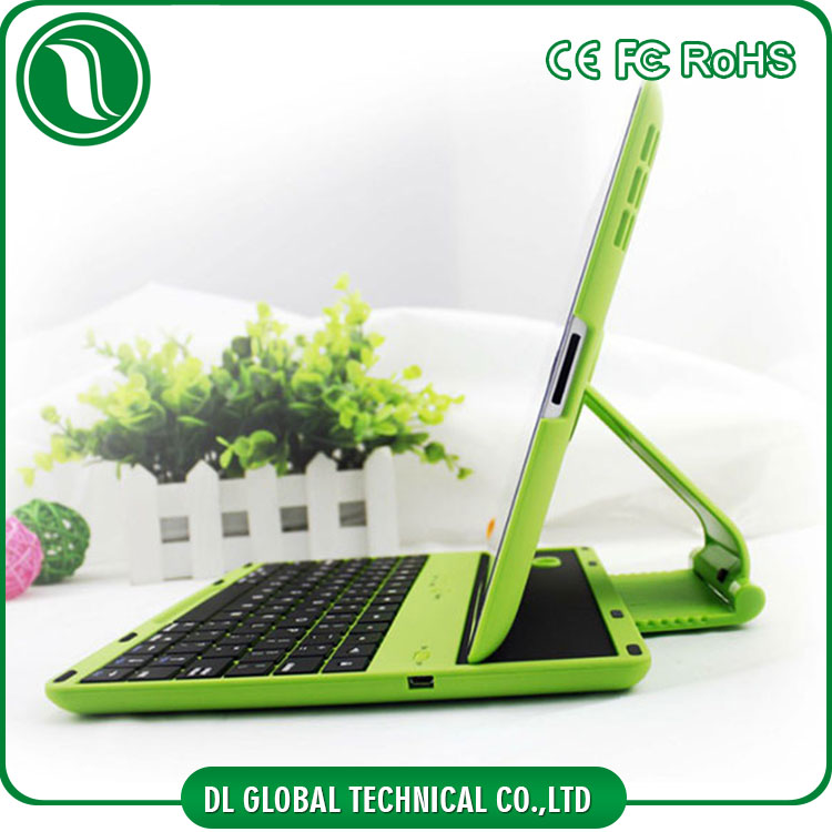 New arrival 360 degree rotation bluetooth keyboard for ipad 2 plastic case