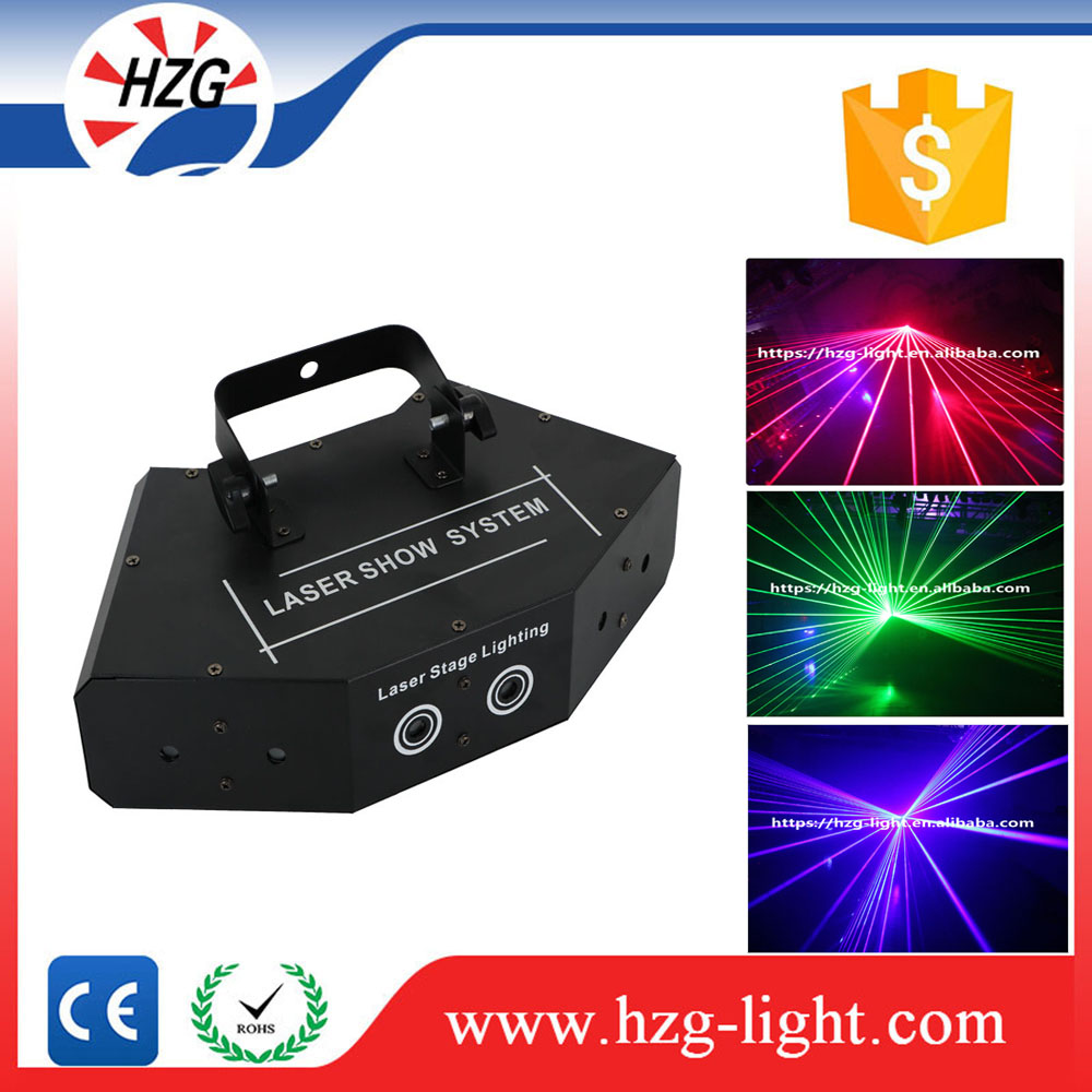 HZG professional six lens laser Indoor Scanner system powerful 6 heads moving Scanning Laser Beam Light