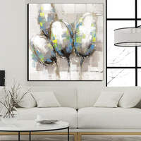 Cheap Price Custom Modern Art Flower Oil Painting 50% Hand Paint By Artist On Canvas Print