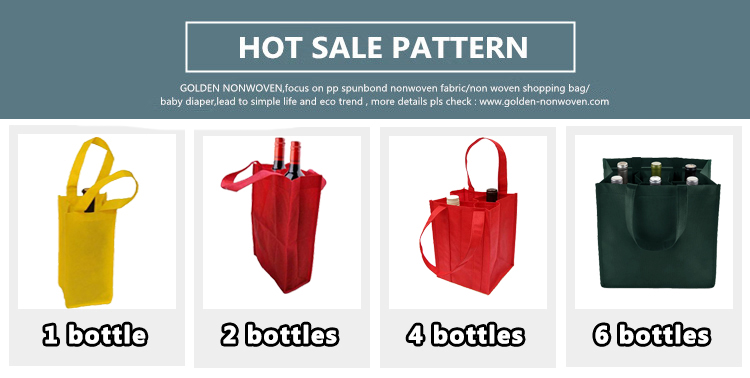 Promotional Recycle Non Woven Tote Wine Bag