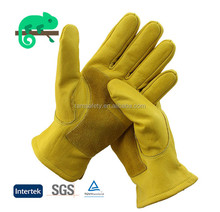 RAMSAFETY hand gloves making machine with cow split leather on palm
