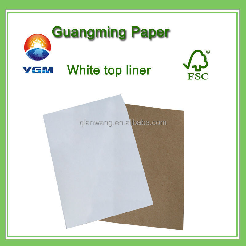 white top kraft liner board/coated white top liner