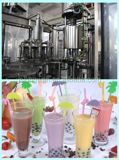 natural juice plant and machine/milk tea /mango packing line