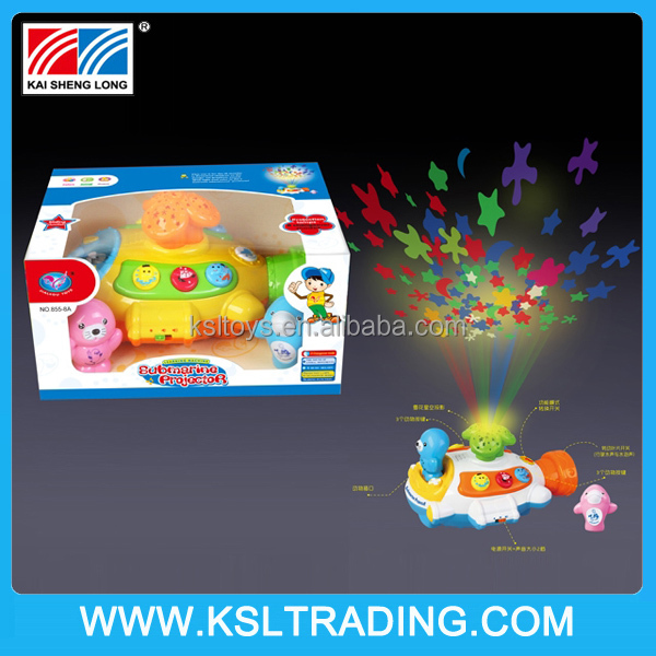 Baby talking projection story machine toy with LED light and music