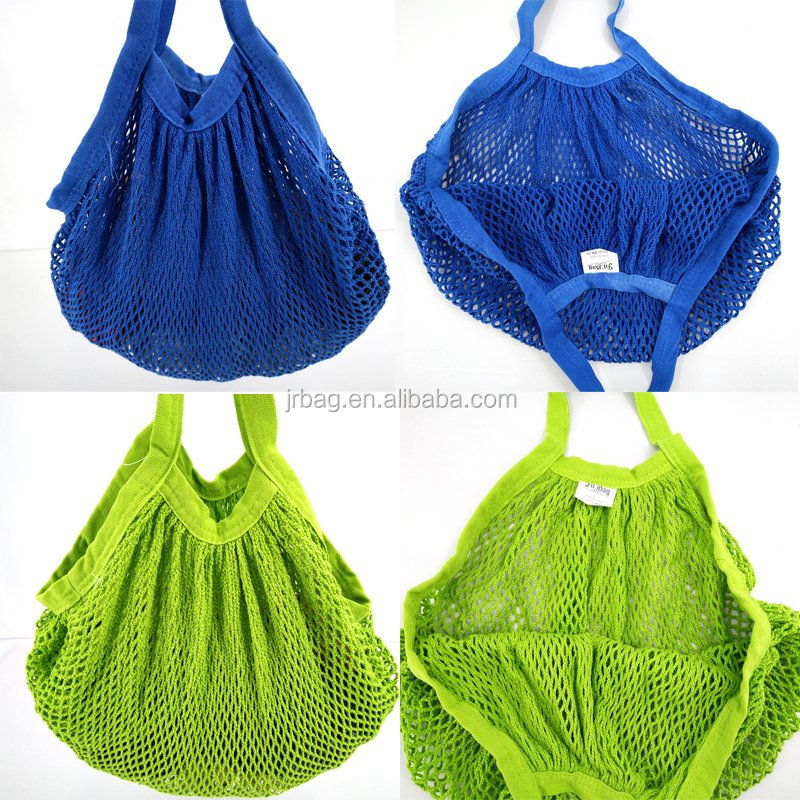 Hot selling supermarket shopping 100% cotton net bag