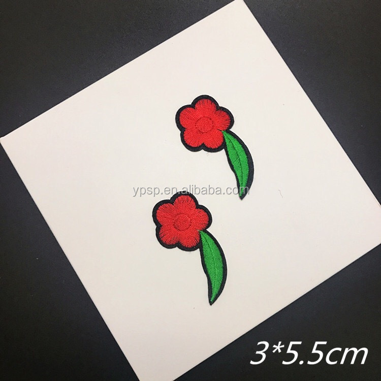 Custom Cute Butterfly Shape Patches Rose Shaped Patches On Sale