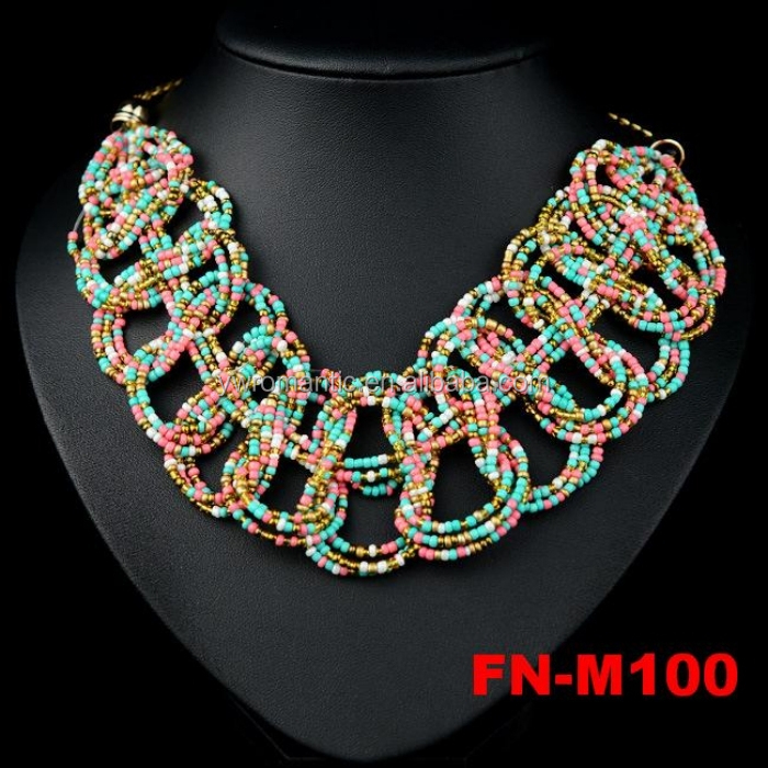 New stocks fashion cheap chunky bead necklace, different colros