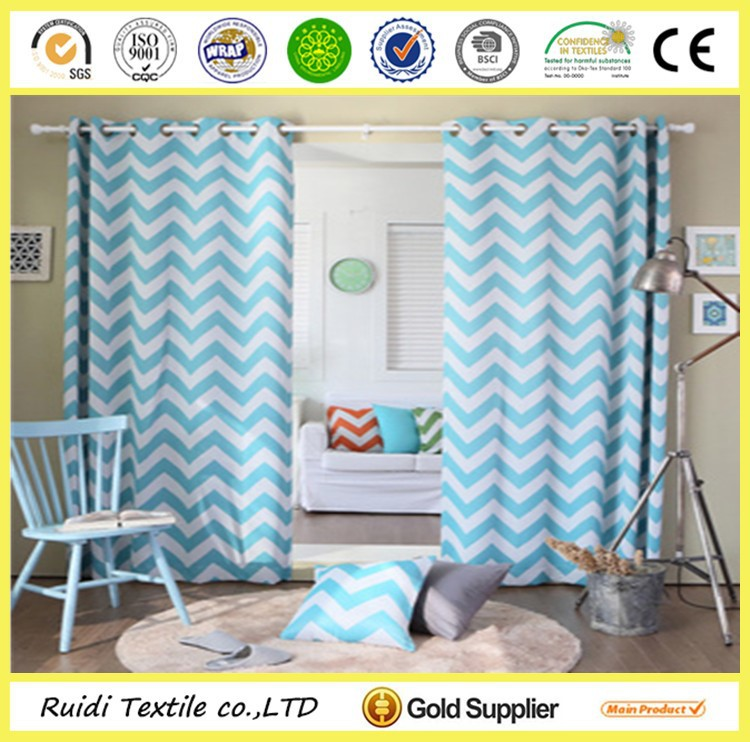 Ready Made Top Quality Custom Design Printed Curtain Drapes