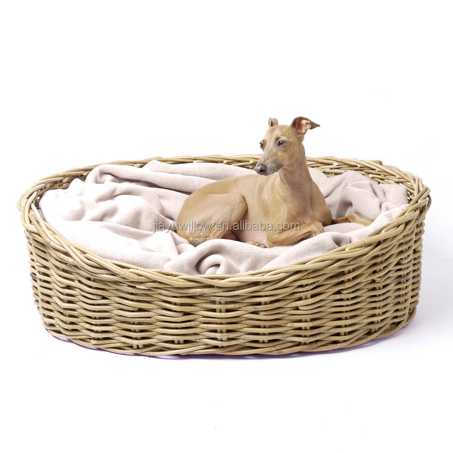 Wholesale luxury multifunctional wicker pet basket for dogs and cats