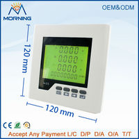 ME-3HD2Y panel size 120*120 low price three phase lcd industrial meter with harmonic measurement