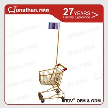 17L safety material kids shopping trolley for supermarket