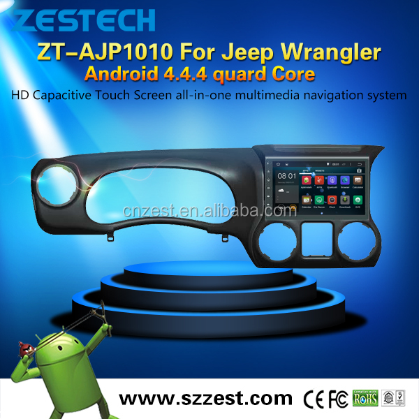 pure Android 4core built-in WIFI car gps navigation system for Jeep Wrangler android car stereo radio Sat Navi AM FM TV BT GPS