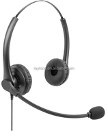 Microphone Telephone Double Ears Handfree Headset