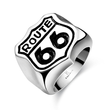 Fashion Jewelry Biker Stainless Steel Letter 66 Big Rings Wholesale