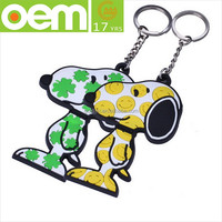 personality lovely cartoon multi-design soft bebossed silicone key ring ,new arrival popular metal silicone key chain