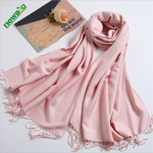 Hot selling solid color pashmina lady's scarf wholesale