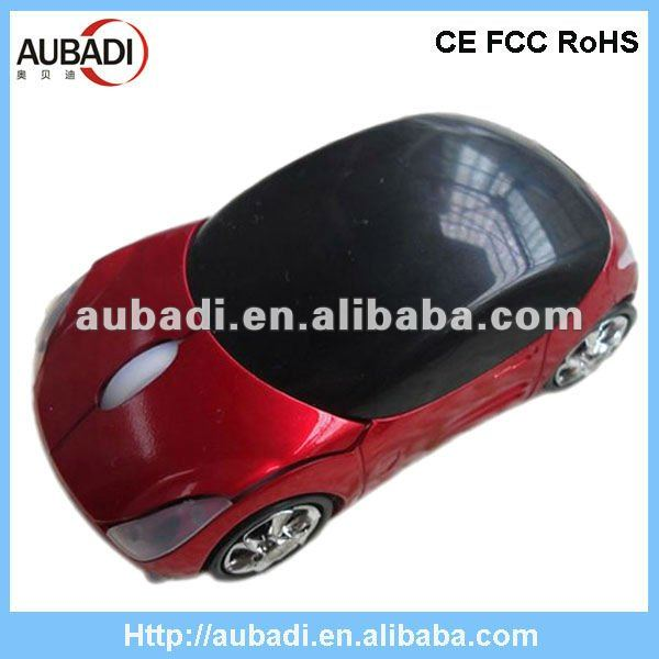 Coca-Red USB Wireless Car Mouse