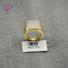 Gold filled anniversary ring.micro pave zircon ring for men ,925 sterling silver jewelr