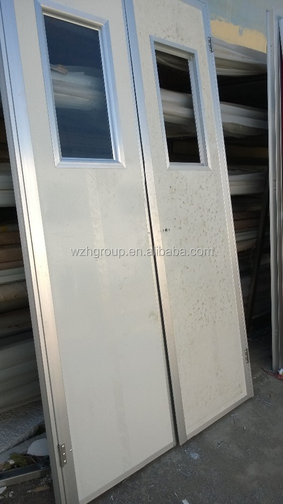 EPS / Honeycomb /PU sandwich panel door with aluminum color/ white color door jamb