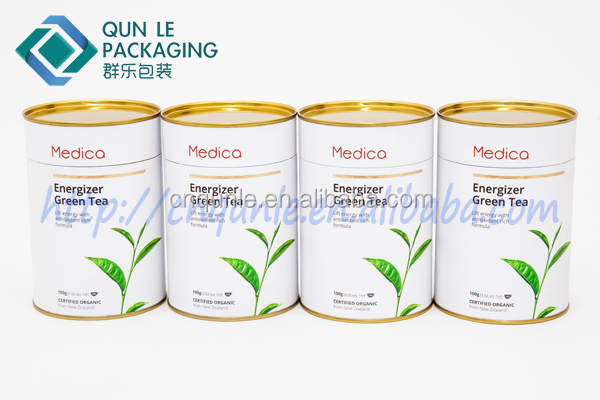 New Style Decorative Herbal Tea can Kraft paper tea can Round Tea tin Wholesale