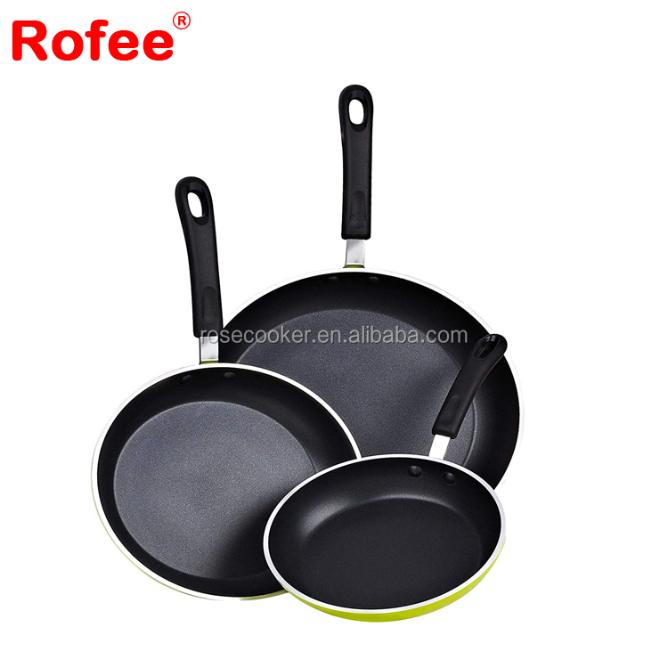 3 Piece Forged Aluminum Nonstick Fry Saute Pan Fry Pan Cookware Set With Bakelite Handle