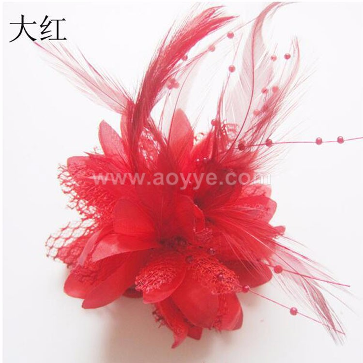 Wholesale beads festival feathers bride headdress flower