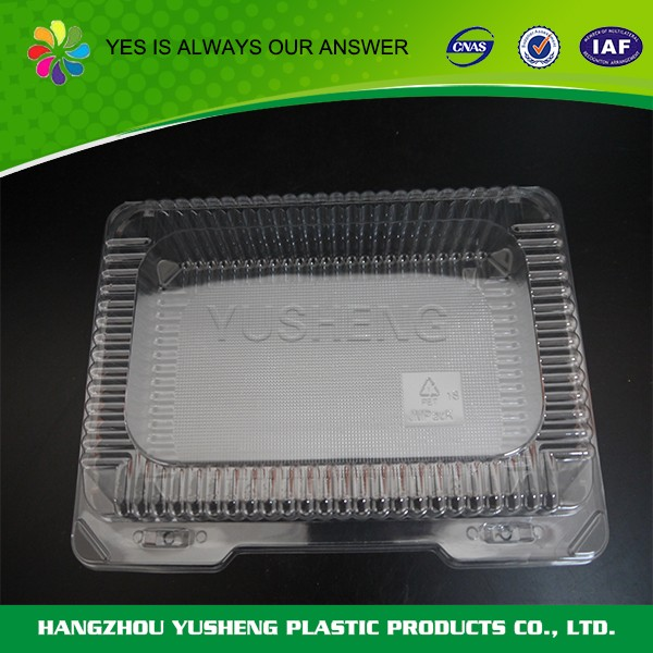 Foldable PET container, disposable food packaging container wholesale
