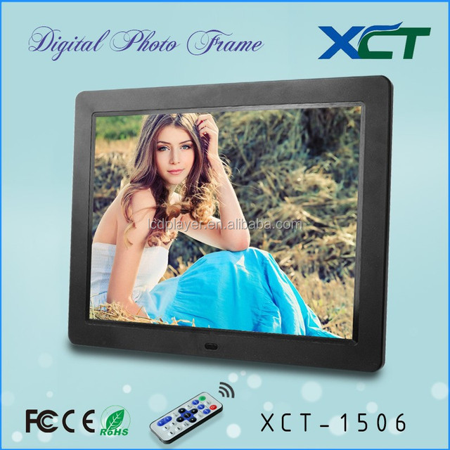 China suppliers hot sale promotion gifts lcd led 15 inch digital photo frames 7 inch XCT-1506