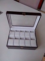 High end wooden watch display box with window