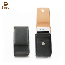 360 degree rotation waterproof mobile phone pouch leather holster belt flip cell phone case