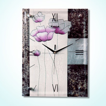 TMEID modern decorative clock wall clock in canvas oil painting