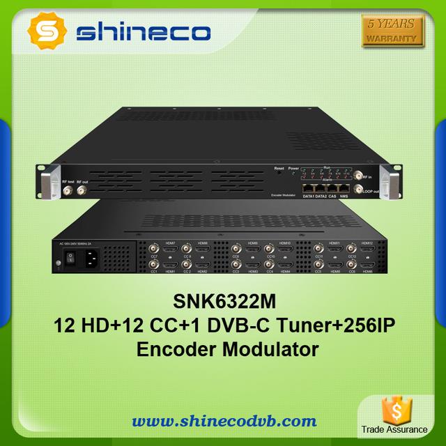 Hotel Solution 12 in 1 DVB-C HDMI to QAM Modulator support CC