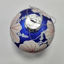 Factory Wholesale High Quality Customize Pattern Giant Glass Ornament Decoration Christmas Ball
