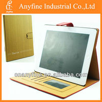 New Style Golden Puzzle Pattern Wallet Leather PU Case Pouch For iPad 2/3/4