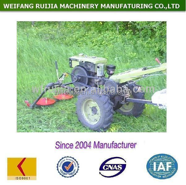Diesel radiator / water-cooled walking tractor with lawn mower for sale, cheap price field mower, lawn mower tractors !