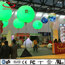inflatable RGBW LED lights glowing balloon lamp with stand