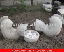 garden hand carved stone animals