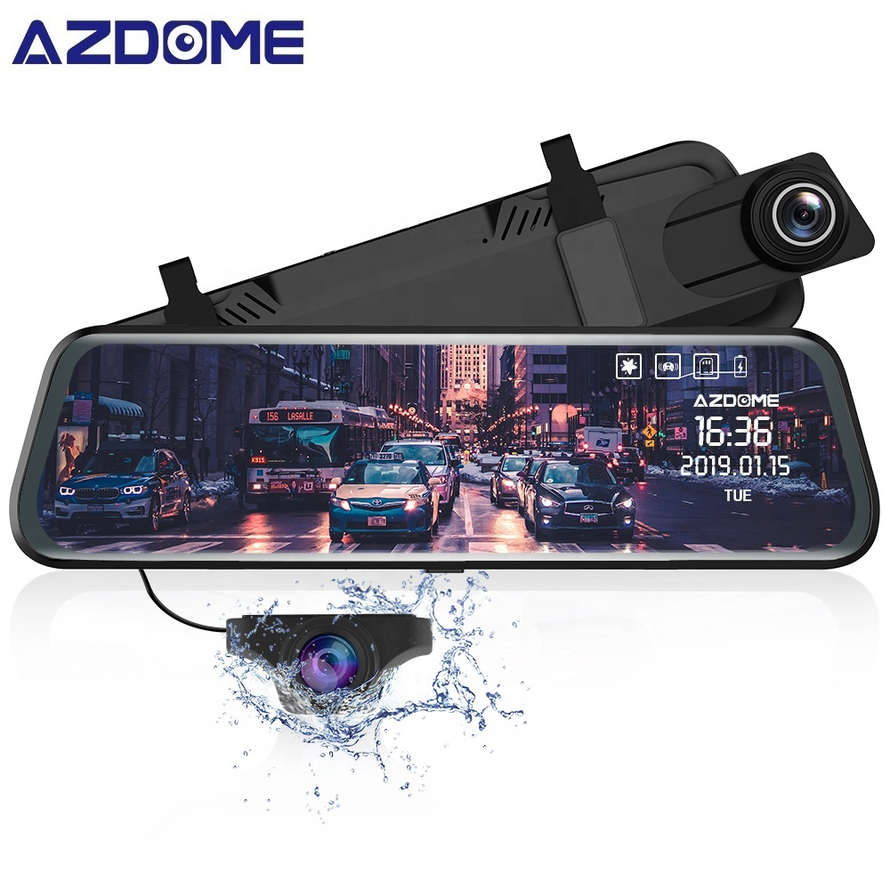 Hot <strong>Sales</strong> 9.66 inch IPS Touch Classic Dash Camera 1080P Support ADAS Car Black Box Mirror DVR
