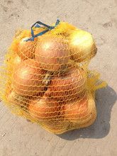 12kg gold yellow plastic net mesh bag for packing onion
