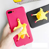Wholesale Funny 3D Chicken Lay Egg Squishy Animal Phone Case For iphone 7 7plus 6 6plus