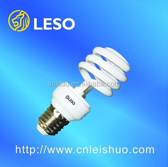 2016 products T3 9mm 18W half spiral energy saving lamp high lumen CE RoHS Approved