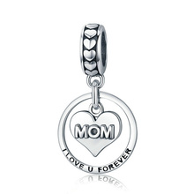Modalen Custom Heart Alphabet Jewelry Charm Sterling Silver Necklace <strong>Pendant</strong>