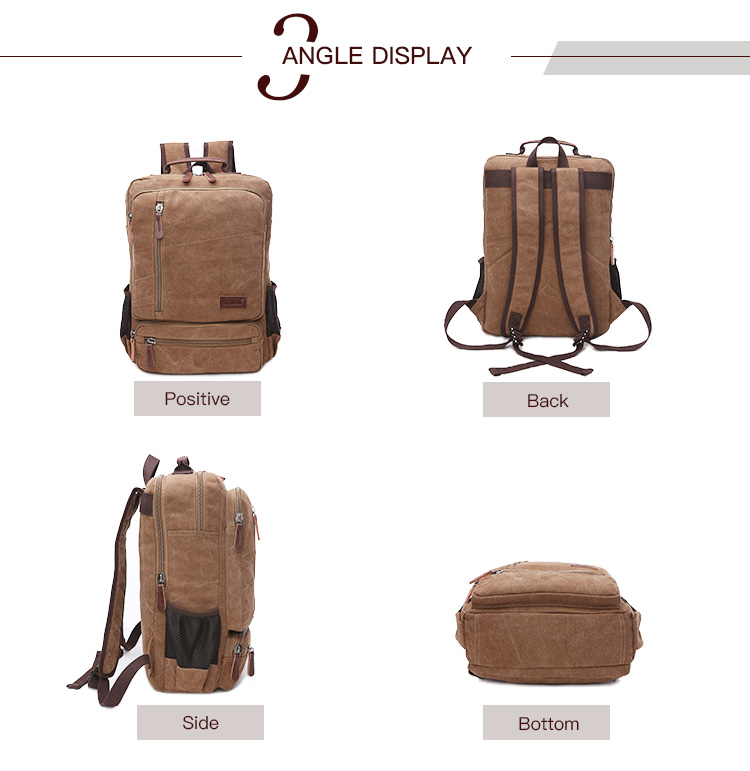 Solid color backpack bag travel 야외 running backpack 빈티지 custom logo backpack