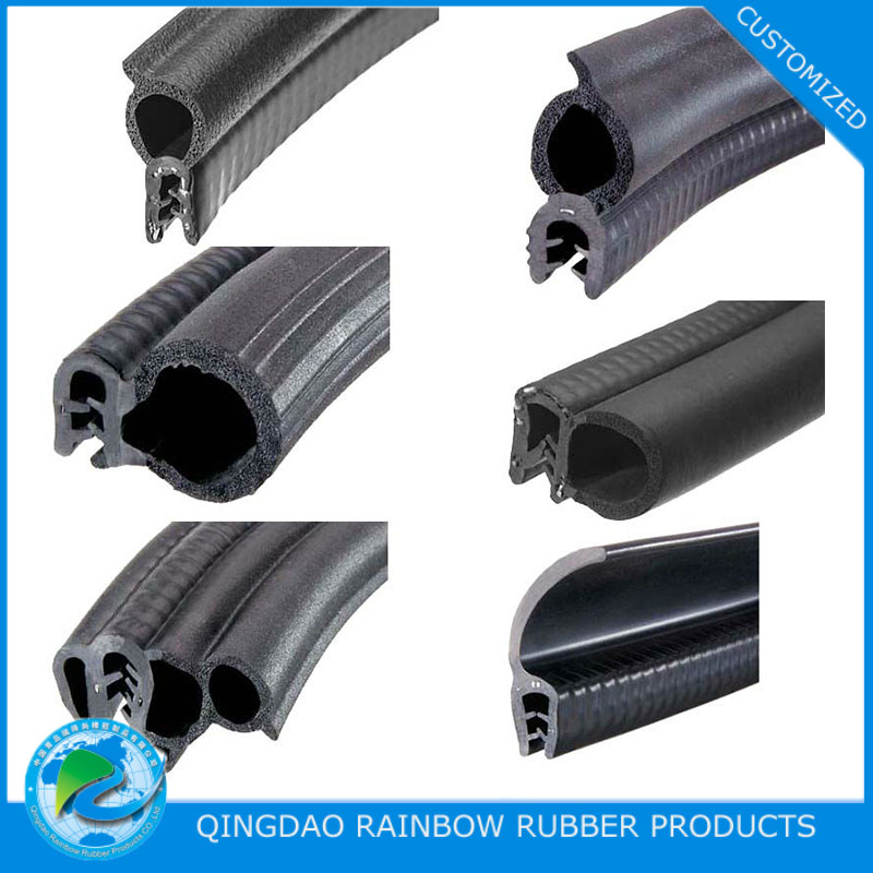 Custom Extruded EPDM NR Silicone Rubber Profile / Weather Strip