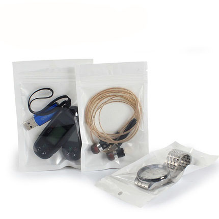 one side clear ziplock earphone accessories packaging bag