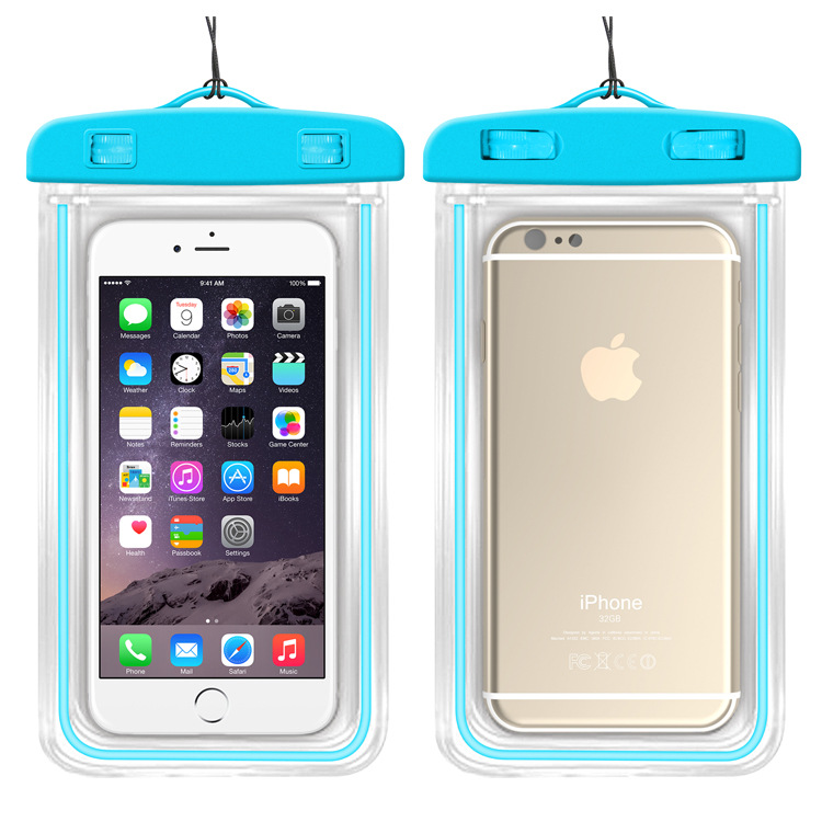 100% Sealed Waterproof Mobile phone Case Pouch Phone Case for iPhone 7 6 6s Plus