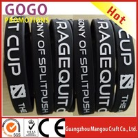 1/2 Inch Wide Silicone Bangles With Custom Design, colorful cheap custom logo silicone promotion business gifts rubber bands